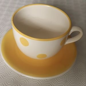 2/25$*****Large cetamig mug and daucer made in Italy